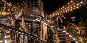 ambience at topknot rooftop bar and restaurant